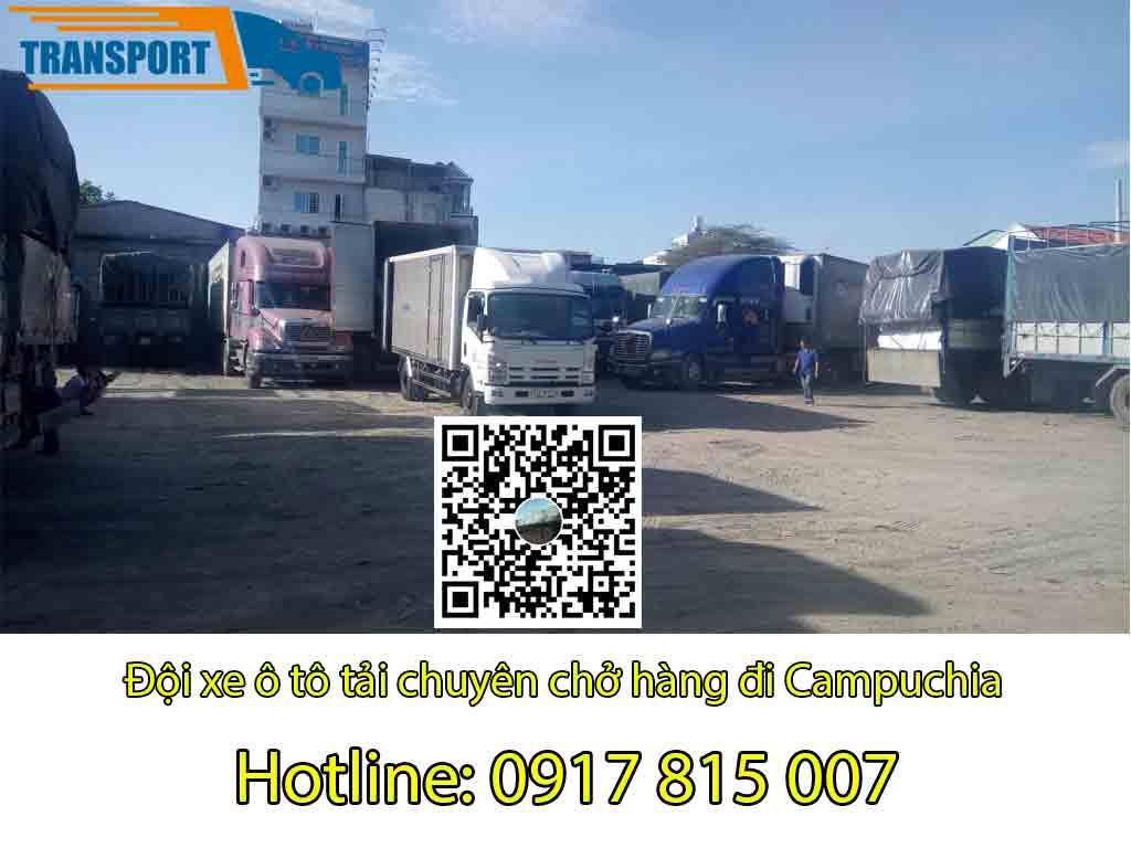 Chành xe vận chuyển hàng đi Campuchia giá rẻ